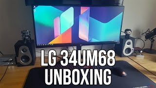 "LG 34UM68 34"" Ultrawide IPS Monitor Unboxing & Initial Setup"