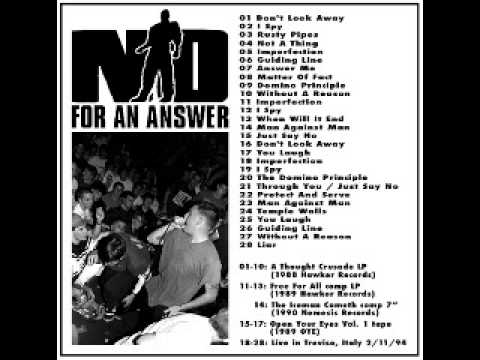 No For An Answer - Discography (1988 - 1994)