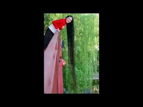 A chinesa Xie Qiuping  é a mulher com cabelo mais grande do Mundo(+5 metros) 2015