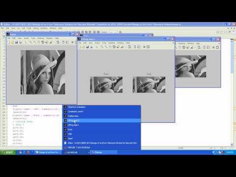 MATLAB- Design of an Error-Tolerance Scheme for Discrete Wavelet Transform in JPEG 2000 Encoder
