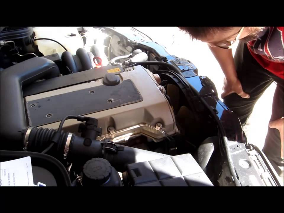 mercedes-benz w202 c280 serpentine belt replacement part 1 - youtube