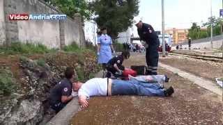 Esercitazione di Protezione Civile stazione: disastro ferroviario alla stazione di Andria