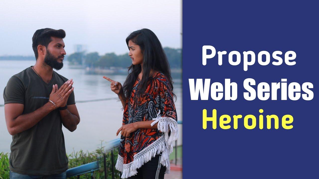 Propose to Web Series Heroine | Telugu Pranks | Mini Movie Entertainments |