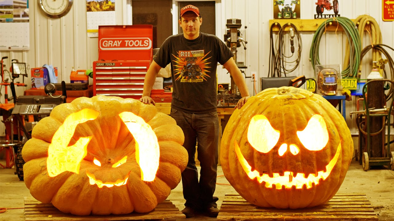 how to carve a pumpkin - atlantic giant pumpkin - youtube