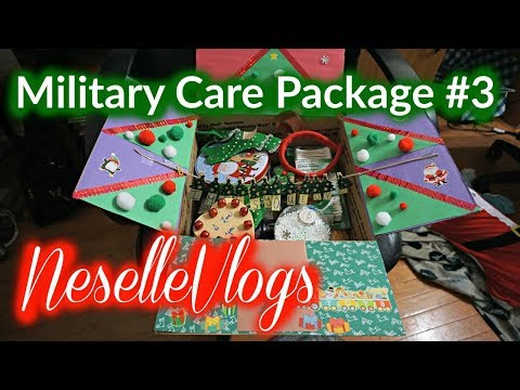 NeselleVlogs: Military Care Package #3 - Christmas Edition!