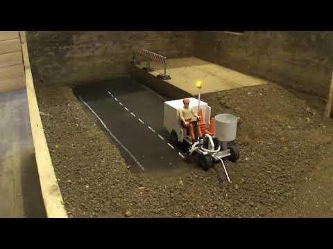 RC Road Marking Machine First Test