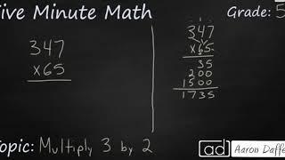 5th Grade Math Multiply 3-Digit by 2-Digit