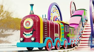 Lets Build Lego Train Bridge - Lego city movie - choo choo train kids videos