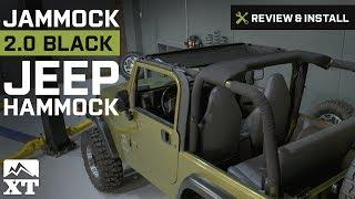 Jeep Wrangler Jammock Black 2.0 Jeep Hammock (1987-2016 YJ, TJ & JK) Review & Install