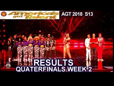RESULTS QUARTERFINALS 2 Judges Save Da Republik Front Pictures America's Got Talent 2018 AGT