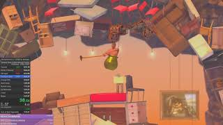 Getting over it speedrun in 1:35