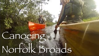 A Paddle on the Norfolk Broads.  North Walsham and Dilham Canal.  Cedar Strip Canoe.