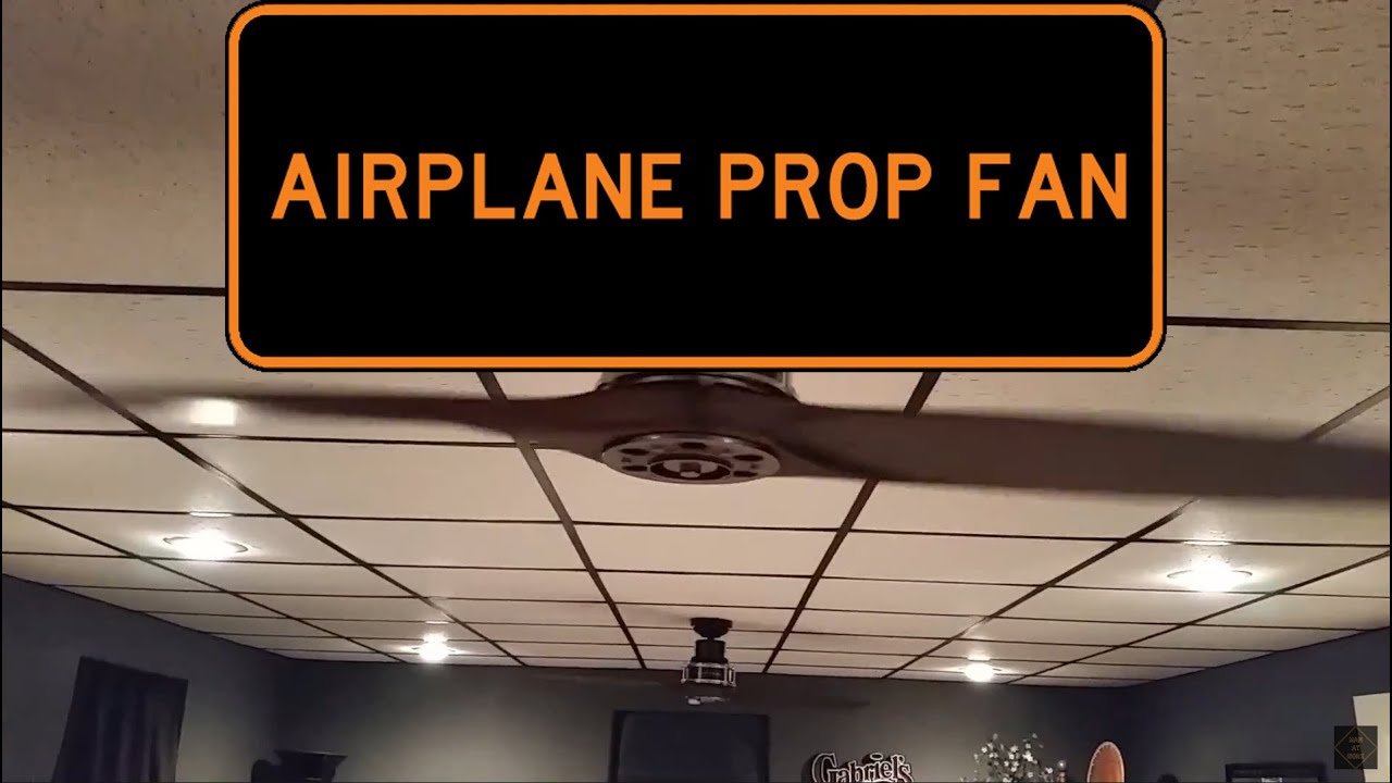 """KICHLER 56"""" AIRPLANE PROP CEILING FANS - Low Speed - YouTube"""