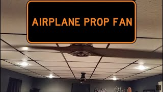 """KICHLER 56"""" AIRPLANE PROP CEILING FANS - Low Speed"""