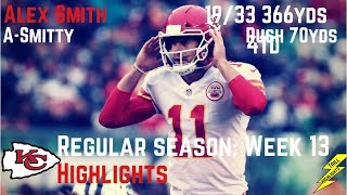 Alex Smith Week 13 Regular Season Highlights ASmitty | 12/03/2017