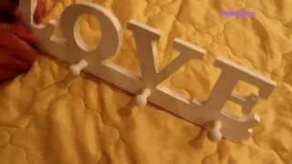 Заказ с сайта aliexpress (№ 64) / Крючок, вешалка LOVE / UNBOXING / REVIEW / Обзор