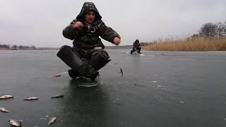 Поиск рыбы зимой с эхолотом. Рыбалка на Саксагани 10.02.2018