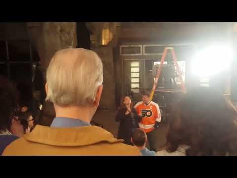 Emily Deschanel   Bones Final Day of Shooting at the Lab speech   with David Boreanaz