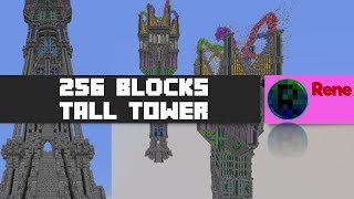 Rene - 256 blocks tall TOWER! (MINECRAFT TIMELAPSE) (challenge with Whartokx)