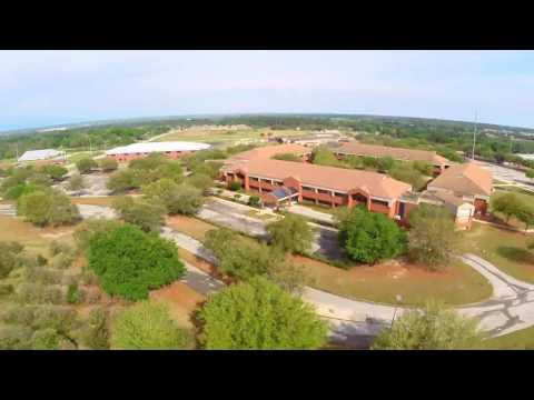 Drone Flight - Lake Region High School  - Watch for the bee!