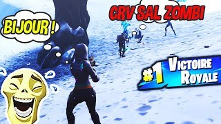 JE RENCONTRE UN BAMBI QUI FARM LES ZOMBIES SUR FORTNITE BATTLE ROYALE !!!