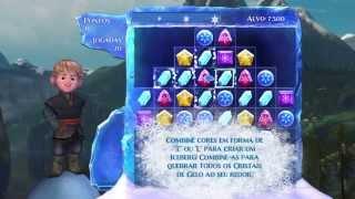 PS4 Upscaling 4K Frozen Free Fall: Batalha das Bolas de Neve Português Legendado.