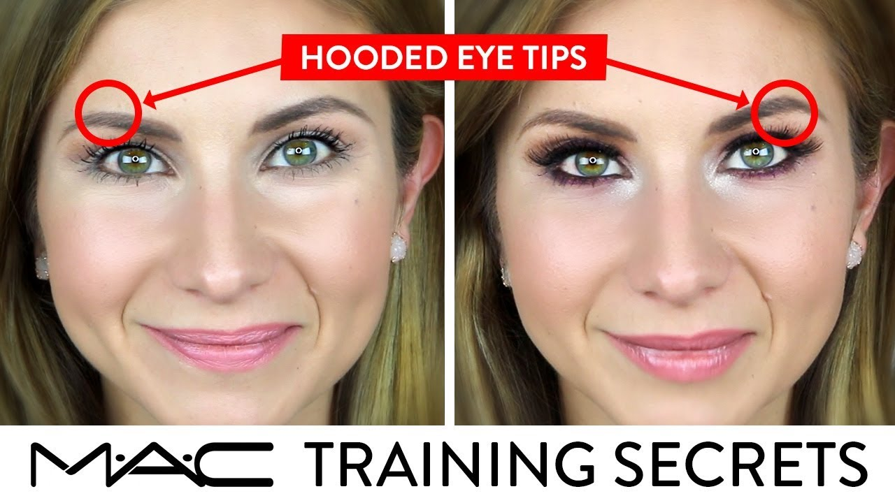 HOODED EYE TIPS for DAY and NIGHT LOOK  MAC Training Secrets Revealed