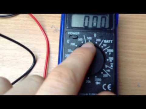 Multimetre mode emploi voltmetre amperemetre ohmmet doovi - Comment utiliser un voltmetre ...