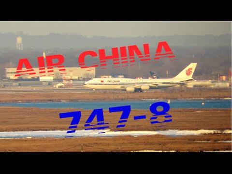 Air China Boeing 747-8 Long Range Takeoff JFK