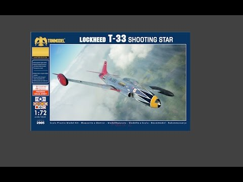 Tanmodel 1/72 T-33 Shooting Star In-box Review