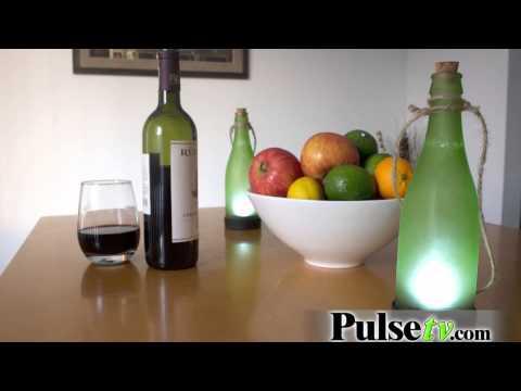 2pk Solar Powered Glass Wine Bottles