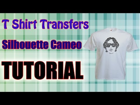 Print Cut Transfer Paper Using The Silhouette Cameo T Shirt  Tutorial