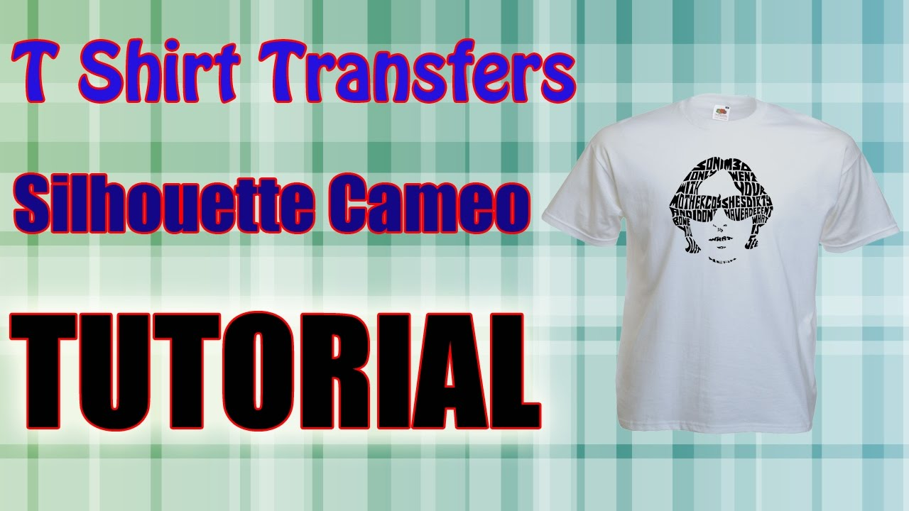 Print cut transfer paper using the silhouette cameo t for How to make a printed shirt