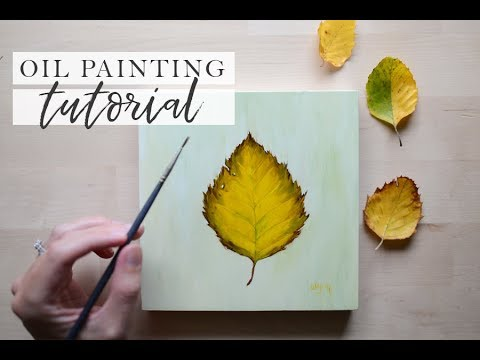 Autumn Leaf Painting | Oil Painting Tutorial for Beginners Step by Step thumbnail