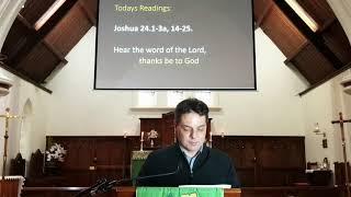 23rd Sunday after Pentecost service at St. James' Anglican Church, Dandenong 8 November 2020