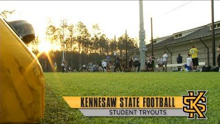 Kennesaw State Football Student Tryouts thumbnail