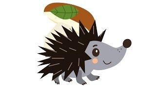 Скачать ЕЖИК Развивающая веселая песенка мультик для детей малышей про животных