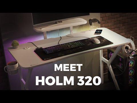 Holm 320 RGB - Modern Gaming Desk