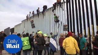 Caravan of migrants from Central America reaches the U.S. border - Daily Mail