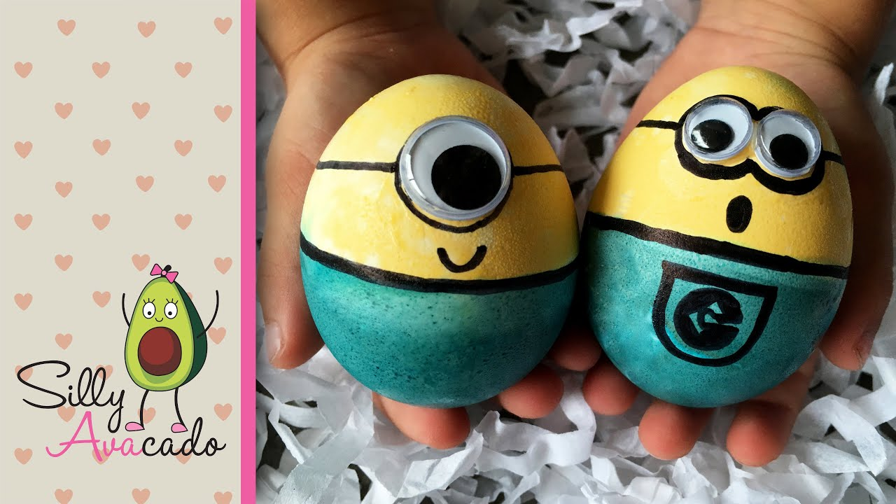How To Make Minion Easter Eggs With Food Coloring  Fun Easter Diy Craft!