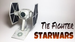 Tie Fighter Star Wars Paper Crafts tutorial !
