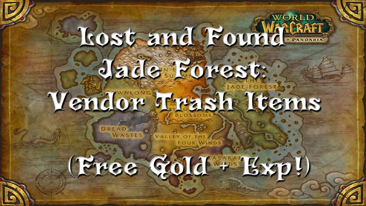 Treasure of Pandaria  Jade Forest Vendor Trash Locations  Free