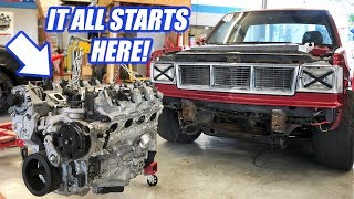 Building The ULTIMATE Truck!? Twin Turbo AWD S-10 Gets A New Engine!!