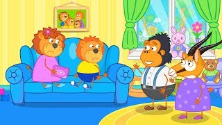 Lion Family Games on the Smartphone Cartoon for Kids