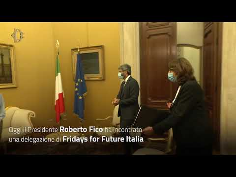 Il Presidente Fico incontra una delegazione di Fridays for Future Italia