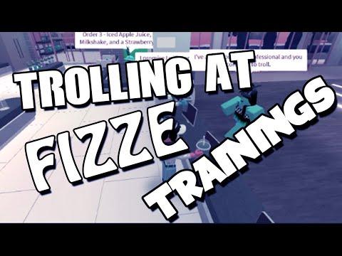 TROLLING AT FIZZE TRAININGS- *FIRED*- ROBLOX TROLLING