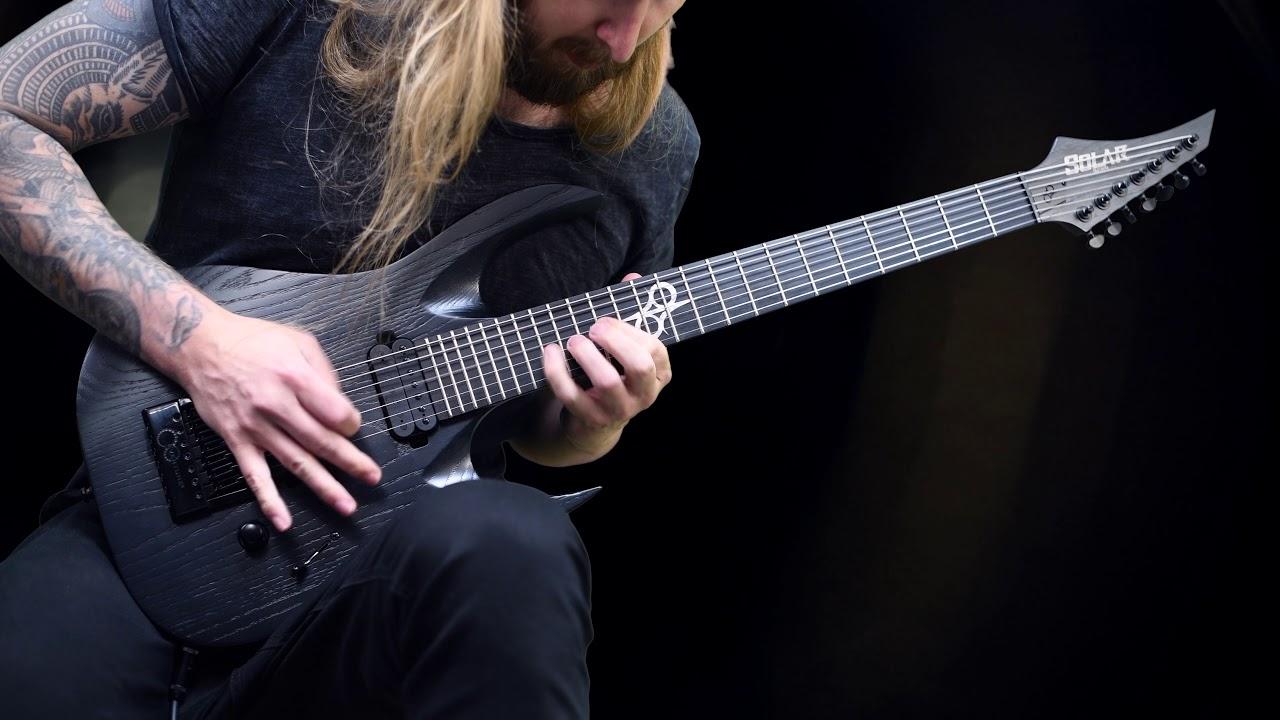 solar guitars a1 7 bop artist ltd