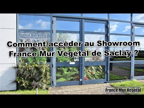Comment accéder au Showroom France Mur Végétal de Saclay