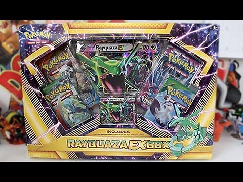opening a pokemon rayquaza ex box youtube
