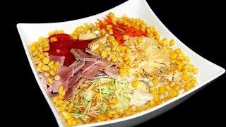 Салат с китайской капустой. С сыром и ветчиной. Простой сытный салат. Моя Dolce vita